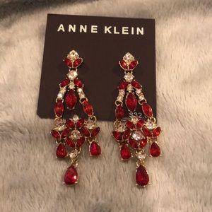 Chandelier Red Dangle Earrings